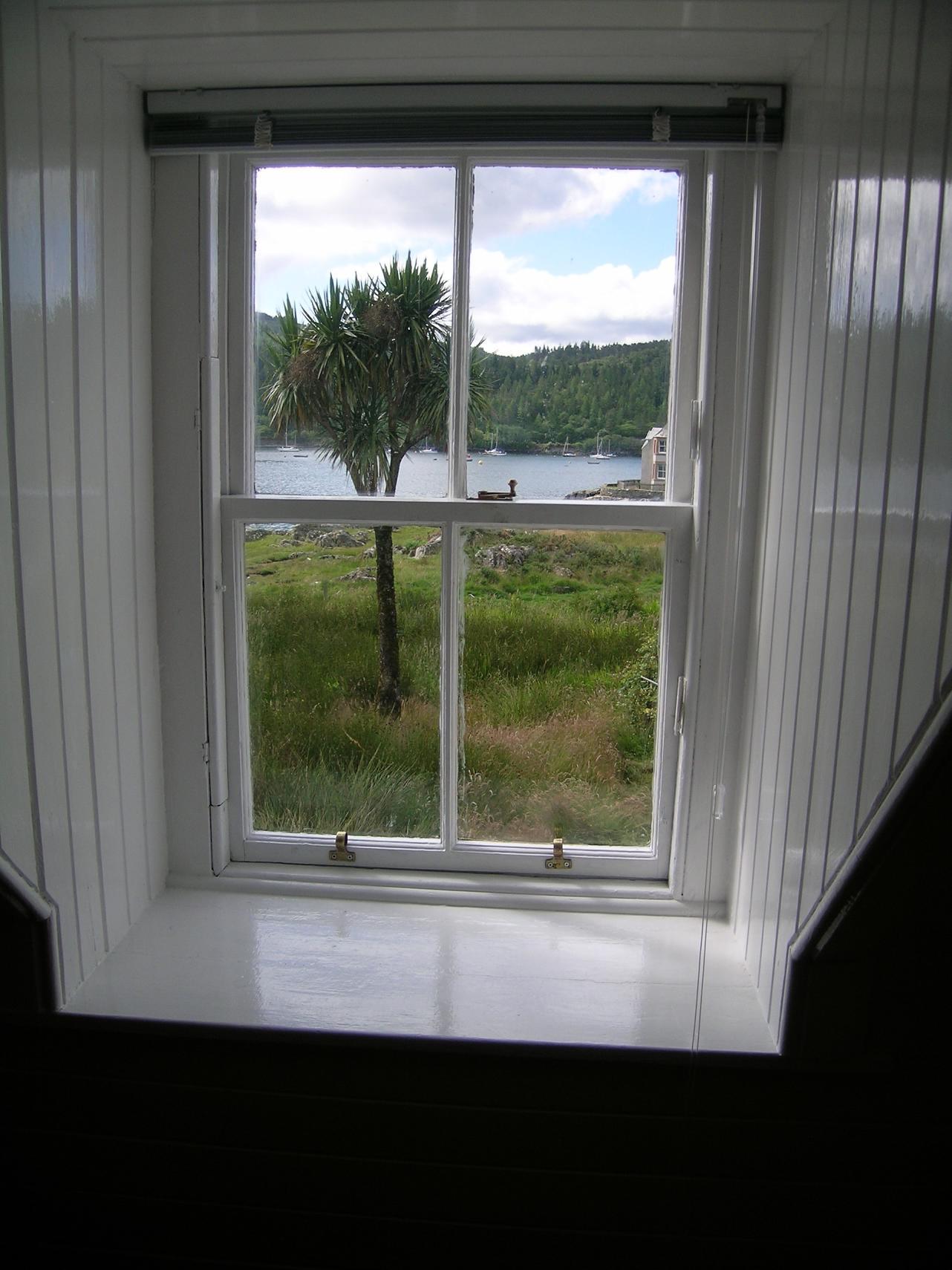 Rhu Cottage Window View